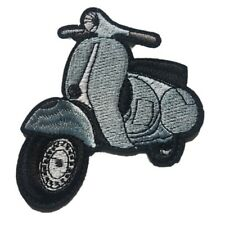 Scooter Moped Vespa - Iron on Patch Sew on transfer classic scooter moped