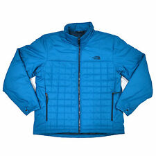 The North Face Mens Frequentative Quilted Puffer Full Zip Jacket Blue Great Gift