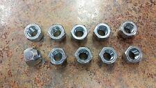 """10 Pieces 1/2""""-20 Open End Lug Nuts Trailer Wheel Nuts 13/16"""""""
