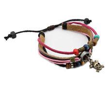 Modeschmuck-Armbänder im Shamballa-Stil aus Leder für Damen