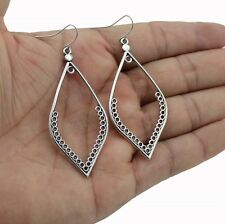Women's Silver Plated Hollow Out Water Drop Dangle Earring Jewellery Gift UK