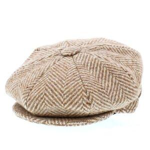 Kangol Bakerboy Cap Light Brown/Beige 100% Wool Made In Britain