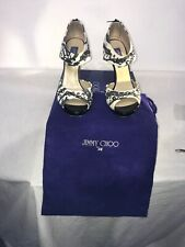 Jimmy Choo For H & M Ladies Zebra Anilmal Print Studded Sandal Heels Uk 5.5