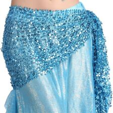 Belly Dance Gold/Silver Belt Hot dance Hip Scarf Skirt Wrap Dancing Costume veil