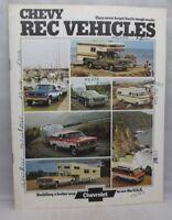 1974 Chevy Rec Vehicles Sales Brochure Catalog Chevrolet Recreational