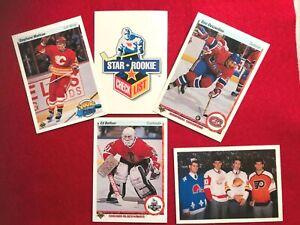 1990-91 UPPER DECK SPECIAL ROOKIE LOT  BELFOUR, MATTEAU, DESJARDINS (5 CARDS)