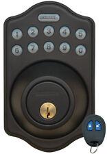 LockState DB500R Electronic Keyless Deadbolt w/Remote Rubbed Bronze LS-DB500R-RB