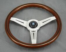 Nardi Classic Wood Steering Wheel Polished Spokes - 340mm - Part # 5061.34.3000