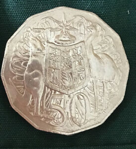 Australian 50p Fifty Pence Coin 2006 Circulated and uncleaned