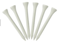 Golf Tees 70mm Wooden 100 Pack White