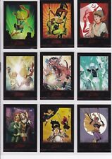 DC Comics Bombshells 2 Complete Gold Deco Covers Chase Card Set C1-9