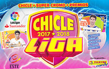 CHICLES liga ESTE 2017 - 18  ---  lote  13 CROMOS  +  5 QUIEN  ES
