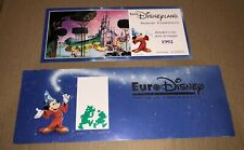 RARE PASSEPORT COMMÉMORATIF EURO DISNEY DISNEYLAND PARIS DISNEY 1992 ticket