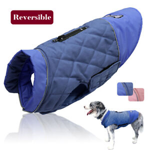 Dog Clothes Winter Pet Jacket Coat Reversible Wear for Doberman Beagle Dachshund