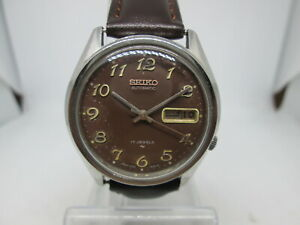 VINTAGE SEIKO 7009 ARABIC DIAL DAYDATE STAINLESS STEEL AUTOMATIC MENS WATCH