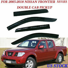 Window Visors Shade Vent Rain Guard for Nissan Frontier Crew Cab 2005-2018 (Fits: Nissan)