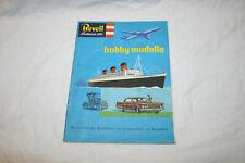 Revell hobby modelle -Broschüre, Katalog mit Preisliste III/1962 - Sehr gut
