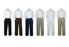 2pc Color Formal Party Wedding Shirt Pants Set New Born Baby Boy Toddler Sm-7