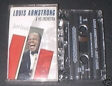LOUIS ARMSTRONG & ORCHESTRA JUST LOUIS CASSETTE