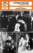 FICHE CINEMA : L'OPINION PUBLIQUE Purviance,Geldart,Chaplin1923 A Woman of Paris
