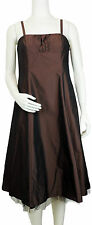 VERA MONT Cocktailkleid  42 Kunstseide braun metallic Ball neu mit Etikett dress