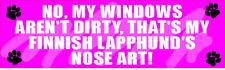 My Finnish Lapphund Nose Art Dirty Window Dog Sticker