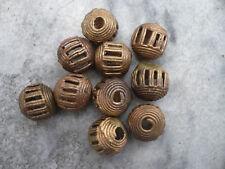 10 Perlen Messing 14 mm Kugeln Ghana Ashanti Wachsausschmelzverfahren lost wax