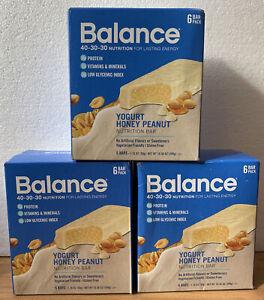 Balance Yogurt Honey Nutrition Bars, 3 Pack, 18 Bars