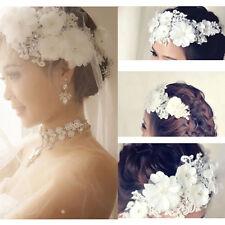 Femme Serre-tête Bandeau Cheveux Strass Fleur Perle Peigne Mariage Nuptial Pince