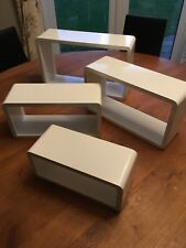 Modern Set Of 4 Floating Shelves Wall Storage Display Cube Shelf White
