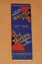 Vintage Rare 40's THE TAVERN~TROY NY Restaurant MC~STUNNING GRAPHICS & EyeCandy
