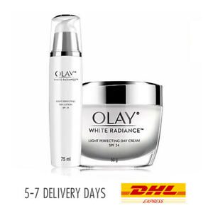 SET 2: [OLAY] White Radiance Brightening Face Cream 50gr + Lotion SPF24 75ml