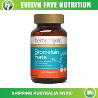 HERBS OF GOLD Bromelain Forte - 60 Capsules | Anti-Inflammatory