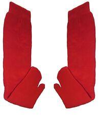 Japanese YUKATA Split Toe Tabi Socks RED - PAIR - SENIOR (UK 7-11)