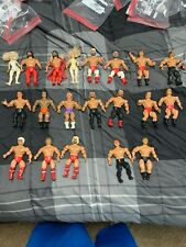 Lot Of 20 Vintage AWA Remco Wrestling Action Figures Freebirds Flair Hawk Wwe