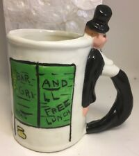 Vintage 1959 TANT Never Again Hand Made Mug Drunk Man Bar Cup