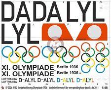 """Peddinghaus 1/48 Ju 52/3mge """"Hans Loeb"""" Markings XI. Olympiade Berlin 1936 2326"""
