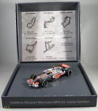 MCLAREN MP4-23 #22 Lewis Hamilton WORLD CHAMPION 2008 GIFT BOX MINICHAMPS 1:43