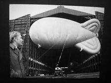 "Weather balloon, Cardington Hanger- Original 1972 YTV Press photo 10"" x 8"""