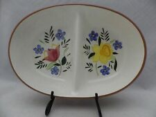 Stangl Pottery - Oval Divided Vegetable Bowl - Country Garden Pattern - EUC