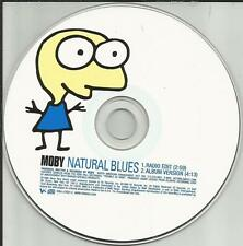 MOBY Natural Blues w/ RADIO EDIT PICTURE DISC PROMO Radio DJ CD Single 1999 USA