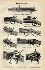 Mano armas de fuego Mauser Spencer Remington werder 3 original las pizarras para 1892 uxz m5