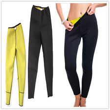 Women Hot Shaper Neoprene Long Slimming Pants Sweating Sauna Suit Waist Elastic