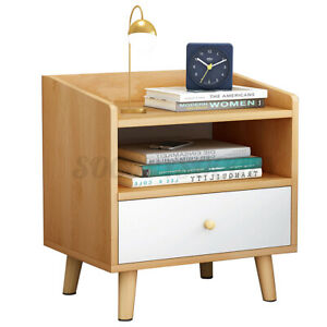 Modern Nightstand Bedside End Wooden Table Bedroom Living Room Storage Cabinet