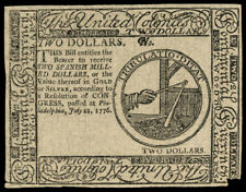 Continental Currency July 22, 1776 Two Dollars Blue Detector PCGS Ch A... Lot 89