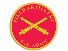 Lot of 3 ROUND RED US ARMY Field Artillery Cannons Seal BUMPER Stickers