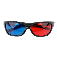 Red Blue 3D Glasses Black Frame For Dimensional Anaglyph Movie TV DVD Game UK
