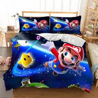 HD Mario Bros Duvet Cover Set Twin Full Queen King Size Bedding Set Pillowcase