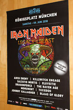 Iron Maiden - Rockavaria München Tourplakat/Tourposter 2018