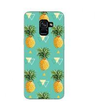 Coque Galaxy J6 2018 Ananas geometrique tropical fruit Exotique